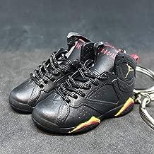 Pair Air Jordan VII 7 Retro Citrus Black Red OG Sneakers Shoes 3D Keychain 1:6 Figure