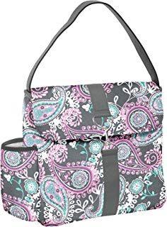 Fit & Fresh Fayetteville Lunch Kit with BPA-Free Containers and Water Bottle, Pink Aqua Paisley