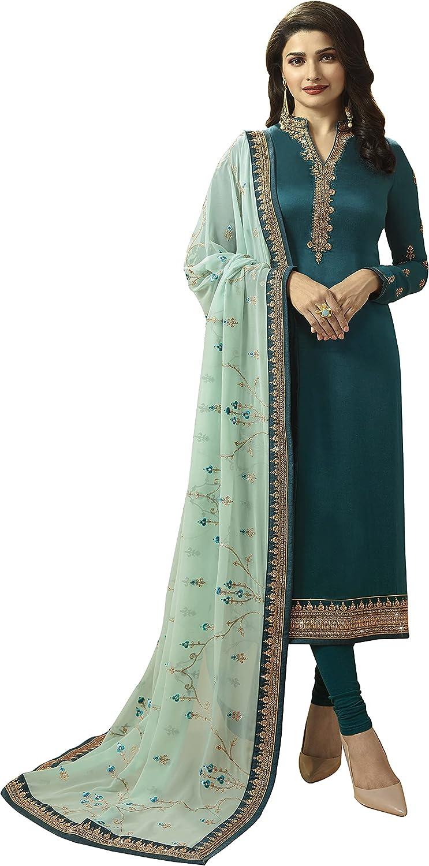 Woman's Vekisa Rama Embroidered Chudidar Suit with Dupatta