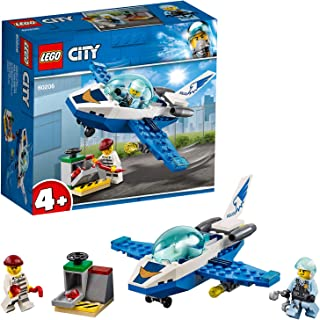 Lego City Police Jet Patrol Playset, Multi-Colour, 60206
