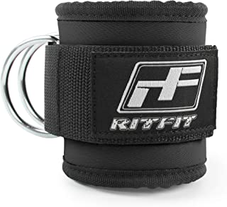 featured product RitFit Fitness Padded Ankle Strap for Cable Machines - Reinforces D-Ring, Adjustable Comfort fit Neoprene, Ideal for Glute & Leg Workouts,Single