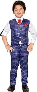 AJ DEZINES Boy's Regular Fit Single Breasted Suit
