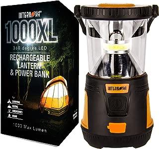 Internova Rechargeable Camping Lantern Power Bank - Massive Brightness Adjustable 360 LED Arc Lighting - Emergency - Backpacking - Construction - Hiking - Auto - Home