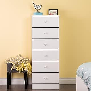 Prepac Astrid 6 Drawer Tall Chest, White