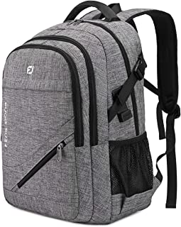 FENGDONG Laptop Backpack with USB Charging and Headphone fits 17.3 Inch Laptop