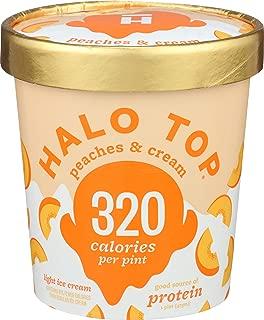 Halo Top Creamery, Ice Cream Peaches Cream, 1 Pint