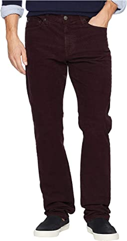 Everett Slim Straight Leg Corduroy in Sulfur Rich Carmine