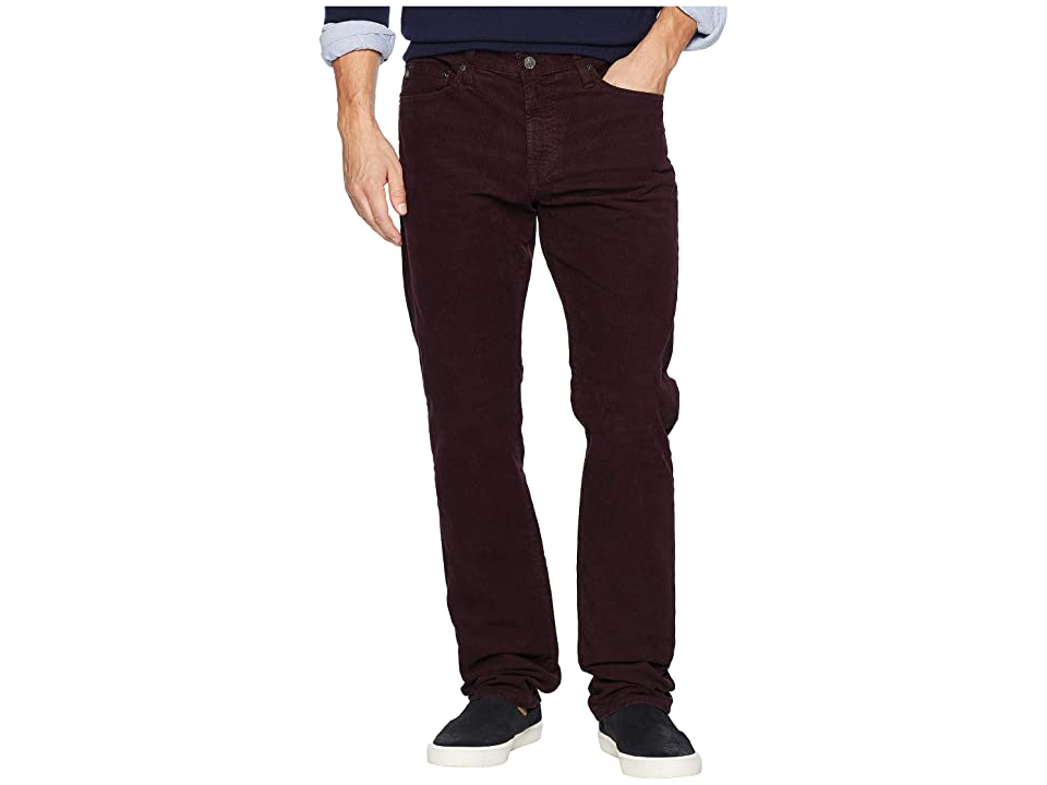 AG Adriano Goldschmied - AG Adriano Goldschmied Everett Slim Straight Leg Corduroy in Sulfur Rich Carmine