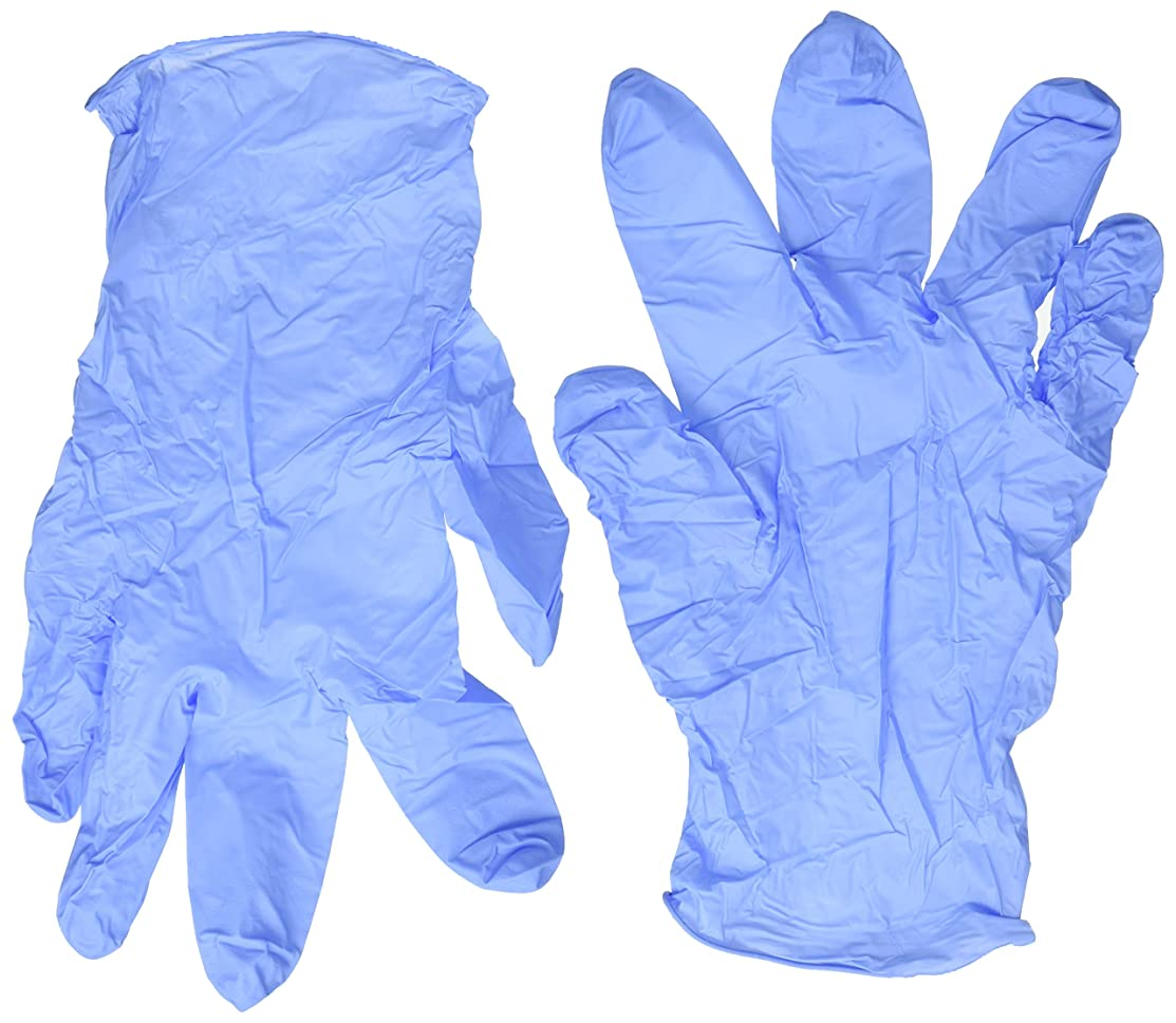 精度エゴイズム刈り取るニトリル試験用手袋 非ラテックス パウダーフリー S ブルー