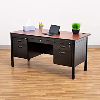 Best large double pedestal desk Reviews