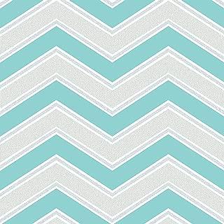 Chevron Zig Zag Geometric Wallpaper Teal Coloroll M1145