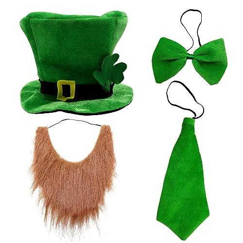 CreepyParty St.Patrick's Day's Hat, Bow Tie, Beard, Tie