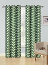 GorgeousHomeLinen (F'S) 1 PC Assorted Colors Room Darkening Thermal Insulated Blackout Window Design Curtain, 35