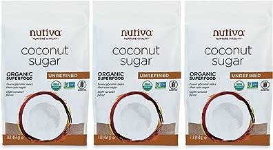 Nutiva Organic, non-GMO, Unrefined Granulated Coconut Sugar, 1-pound (Pack of 3)