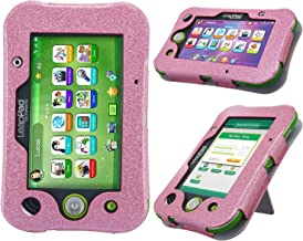 HOTCOOL LeapPad Ultimate Case New PU Leather Kickstand Cover Case Leapfrog LeapPad Ultimate Kids Tablet, Glitter Pink