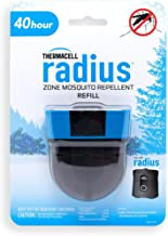 Thermacell Radius Zone Mosquito Repellent 40-Hour Refill; Compatible With Rechargeable Thermacell Repellers; No Candle Flame, DEET-Free Mosquito Defense, Scent-Free, Bug Spray Alternative