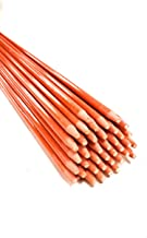 200 Pack Snow Plow Stakes 48 Inch Long Driveway Markers Plow Stakes Orange Fiberglass Stakes for Driveway (200 Pack) 1/4