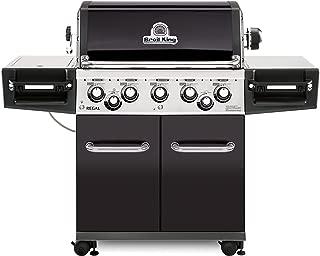 Broil King 958244 Regal 590 Pro LP Gas Grill, Five-Burner, Black Porcelain
