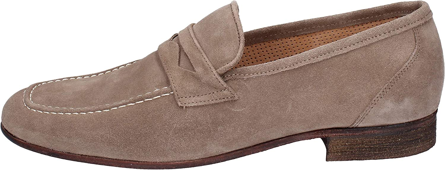 NICO BOSSI Loafers-shoes Mens Suede Beige