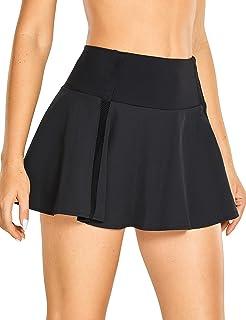 CRZ YOGA Saia de tênis feminina de secagem rápida de cintura alta Skort esportivo de golfe esportivo pregueado com bolsos