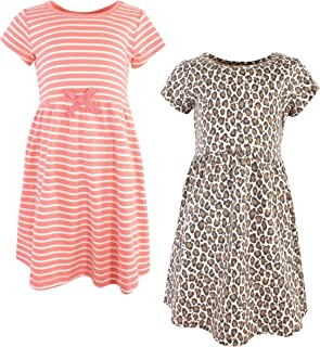 Touched by Nature Girls' Organic Cotton Short-Sleeve Dresses