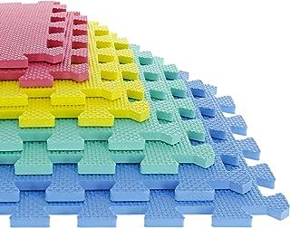 Foam Mat Floor Tiles, Interlocking EVA Foam Padding by Stalwart – Soft Flooring for Exercising, Yoga, Camping, Kids, Babi...