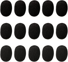 Cuffia Auricolare Risvolto di Microfono Parabrezza, Coperchi per Microfono in Schiuma, Mini Dimensioni, 15 Pezzi