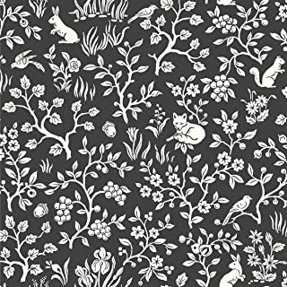 Décor Direct YWME1570 Wallpaper Straight Black