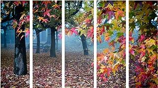 999Store Multiple Frames Wall Art Panels Wooden Frame Printed Sun Set Tree Like Modern Wall Art Painting - 5 Frames (148 X...