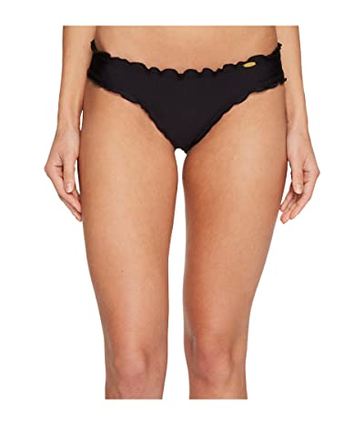 Luli Fama Cosita Buena Wavey Brazilian Ruched Bottom (Black) Women