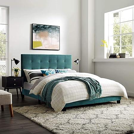 Green Full Novogratz 4356929N Her Her Majesty Upholstered Bed