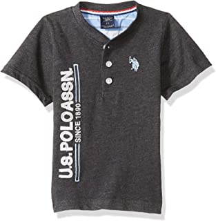 U.S. Polo Assn. Boys' Short Sleeve Henley T-Shirt