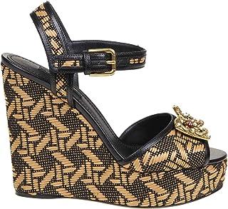 Luxury Fashion | Dolce E Gabbana Women CZ0237AJ9178C108 Brown Leather Wedges | Spring-summer 20