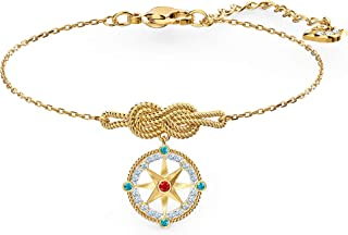 Swarovski Pulsera Ocean Adventure, Colores claros, Baño en Oro, Amazon Exclusivos