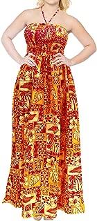 Women's One Size Boho Vintage Ethnic Style Summer Tube Dress Printed A
