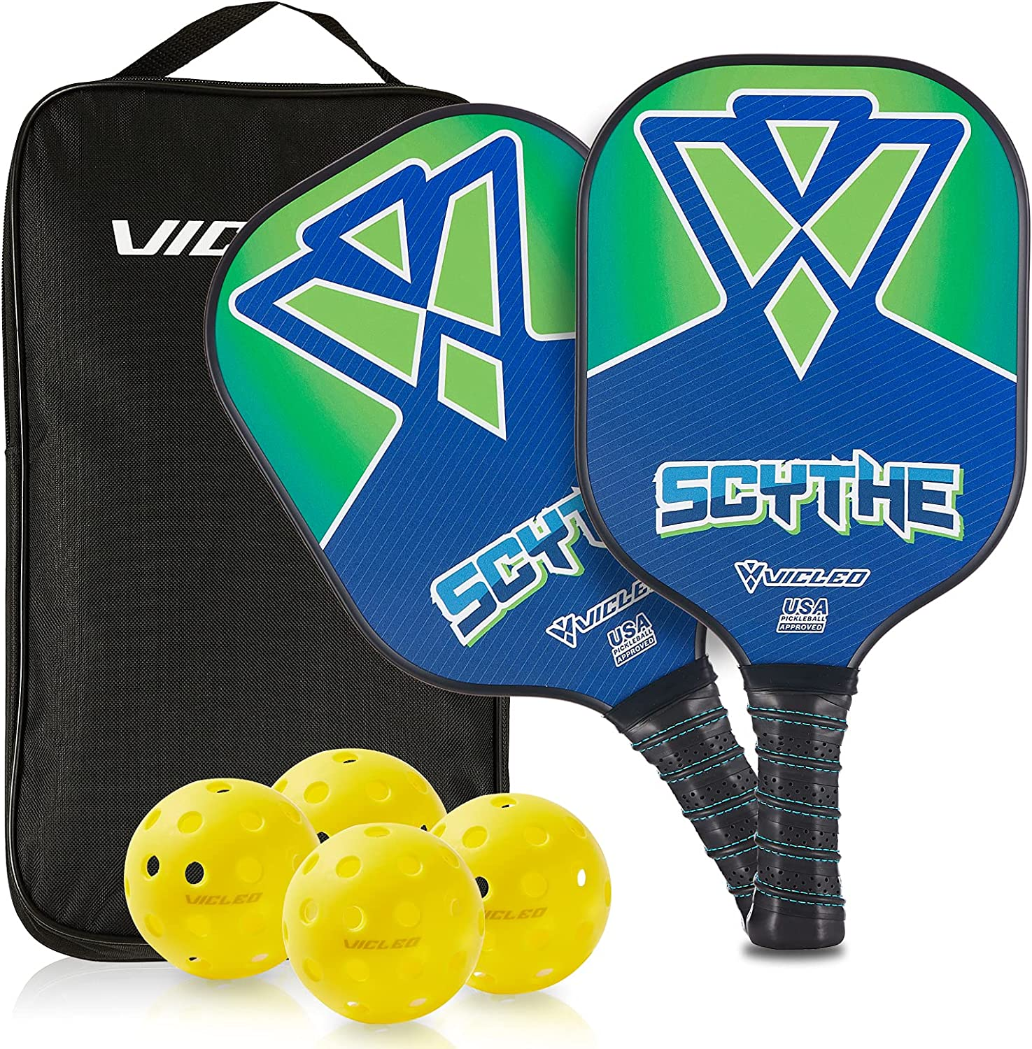 VICLEO Pickleball Paddles Set of price 2 Rackets 4 Carrying Super sale with Balls