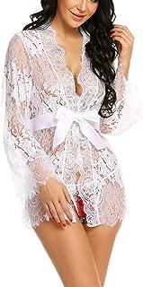 Sexy Robe Lingerie Lace Lace Kimono Bathrobe Night Babydoll