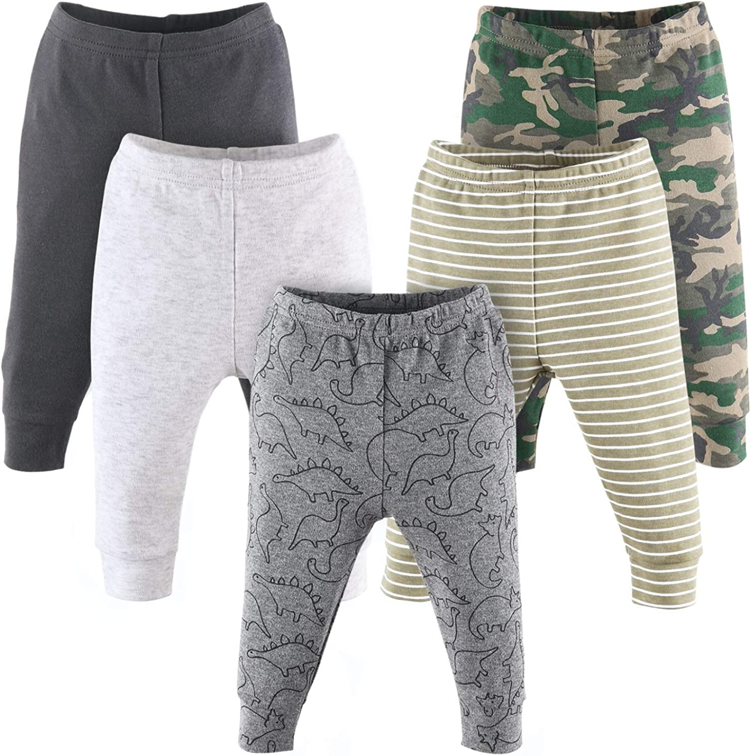 Genuine Free Shipping The Peanutshell Fees free Camo and Dinosaur Baby Pants for Boys 5 Pack S