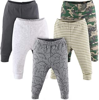 The Peanutshell Camo and Dinosaur Baby Pants for Boys | 5 Pack Set | Newborn to 24 Month Sizes