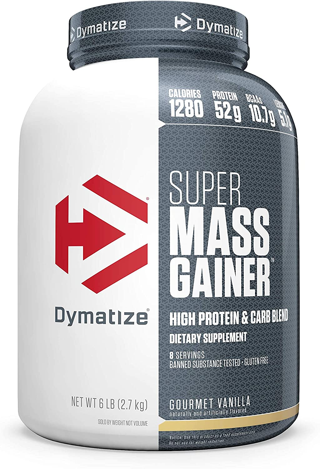 Dymatize Super Mass Gainer Protein Calories Powder 1280 Max 54% New product! New type OFF P 52g