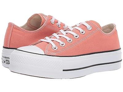 Converse Chuck Taylor(r) All Star(r) Seasonal Color Lift Ox (Desert Peach/White/Black) Women