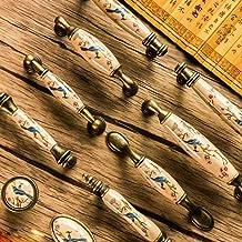 WXHHH Meubelgreep Retro Brons Keramische Garderobe Deur Kast Lade Handvat voor Kast Garderobe (Kleur: Beige, Maat: 145 x 3...