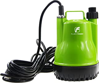 FLUENTPOWER 1/4 HP Portable Submersible Utility Pump with 1500 GPH Flow for Water Removal, Drainage Sump Pump with 3/4