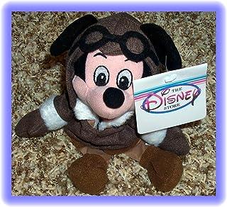 "Disney Aviator Red Barron Flying Ace Mickey Mouse 8"" Plush Bean Bag Doll"