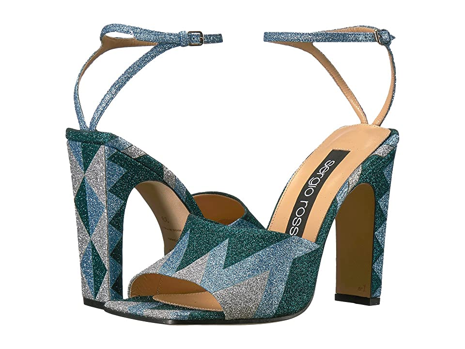 Sergio Rossi A78090-MAF981 (Var. Argento Glitter) High Heels