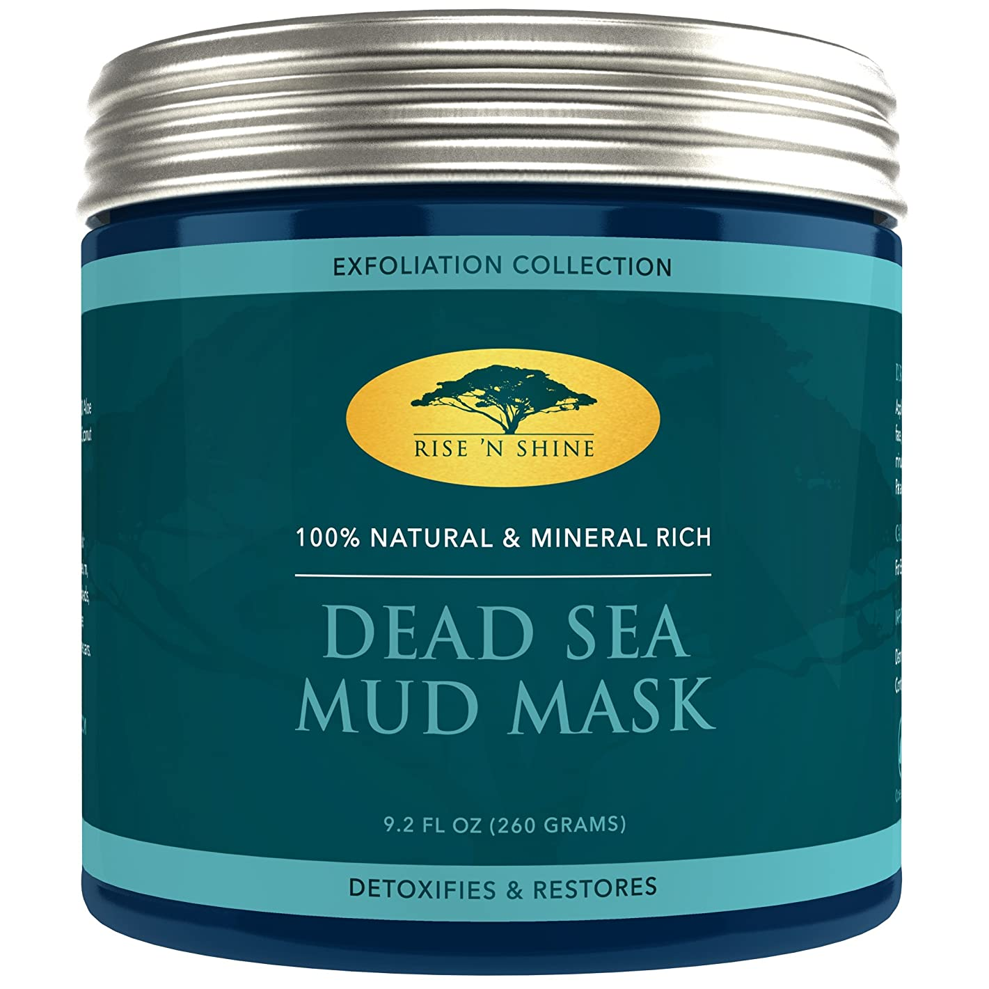 Dead Sea Mineral Mud Mask for Face - 100% Natural - Pore Minimizer, Deep Skin Cleanser, Acne Care, Blackhead and Whitehead Remover and Oiliness Reducer for a Tighter Skin and Clear Complexion (9.2 oz)