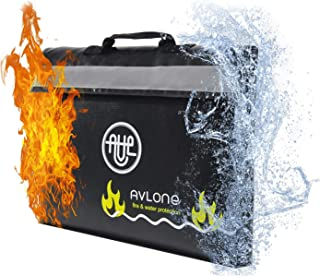 Fireproof and Waterproof Money and Important Documents Bag - Fire Protective Storage for Valuables with Double Closure and Reflective Band