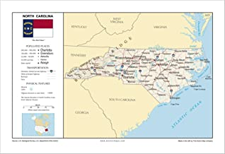 Best physical map of north carolina Reviews