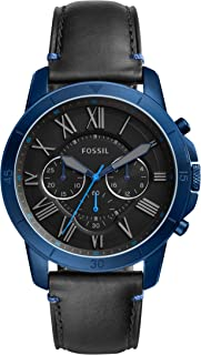 Fossil Men's Grant Sport Analog Quartz/Chronograph Black Watch, (FS5342)