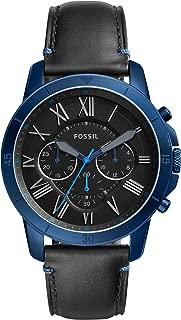 Fossil Men's Grant Sport Analog Quartz/Chronograph Black Watch, (FS5342)